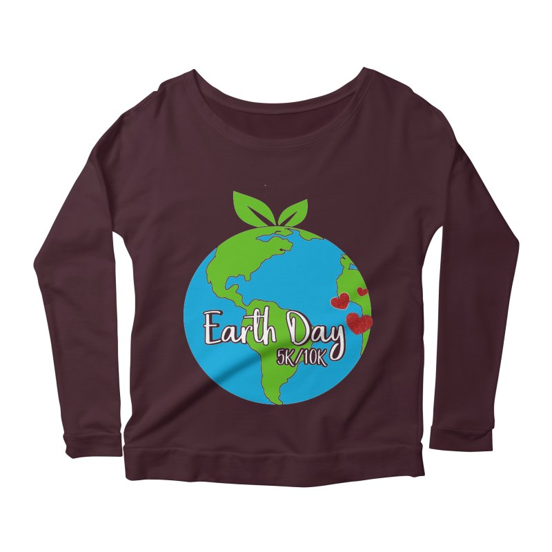 Earth Day 5K & 10K Women's Longsleeve Scoopneck  by moonjoggers's Artist Shop