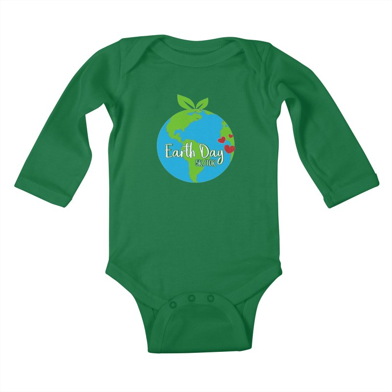 Earth Day 5K & 10K Kids Baby Longsleeve Bodysuit by moonjoggers's Artist Shop