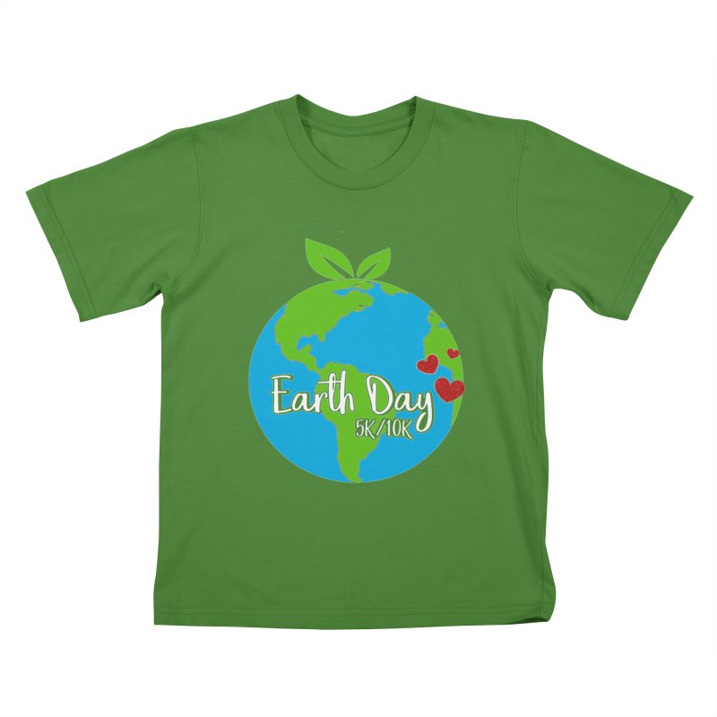 Earth Day 5K & 10K Kids T-Shirt by moonjoggers's Artist Shop