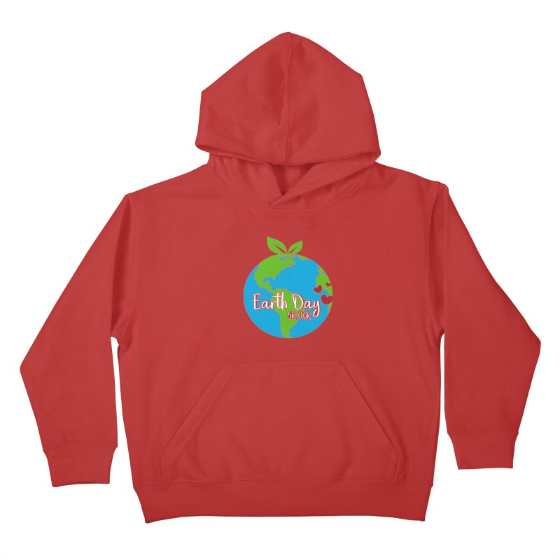 Earth Day 5K & 10K Kids Pullover Hoody by moonjoggers's Artist Shop
