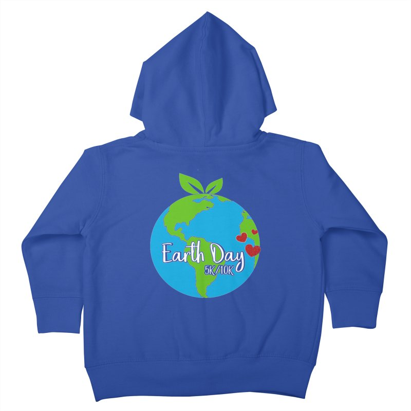 Earth Day 5K & 10K Kids Toddler Zip-Up Hoody by moonjoggers's Artist Shop