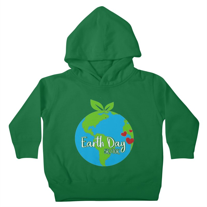 Earth Day 5K & 10K Kids Toddler Pullover Hoody by moonjoggers's Artist Shop