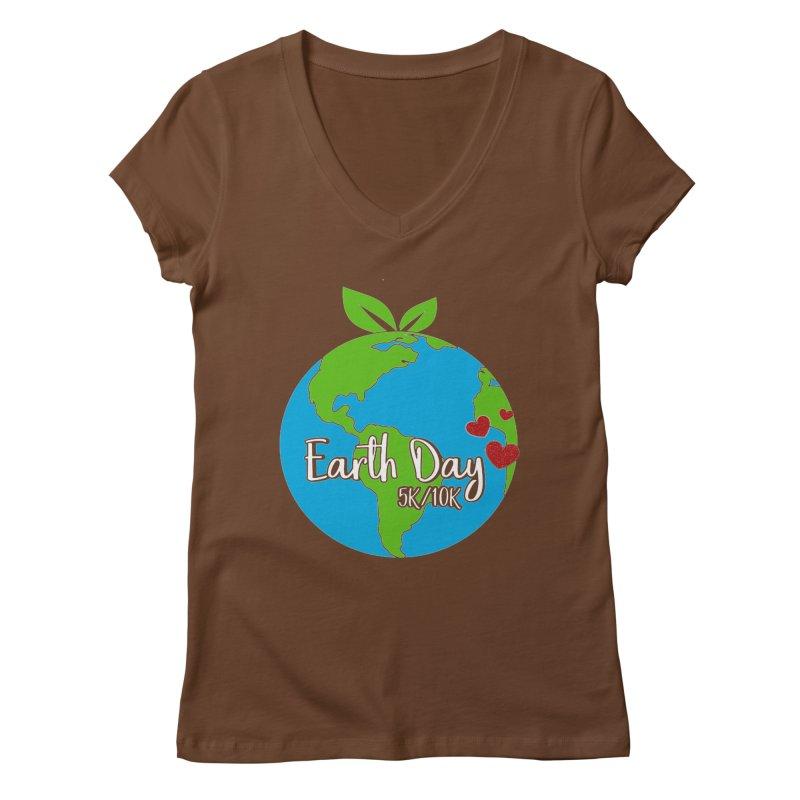 Earth Day 5K & 10K Women's V-Neck by moonjoggers's Artist Shop