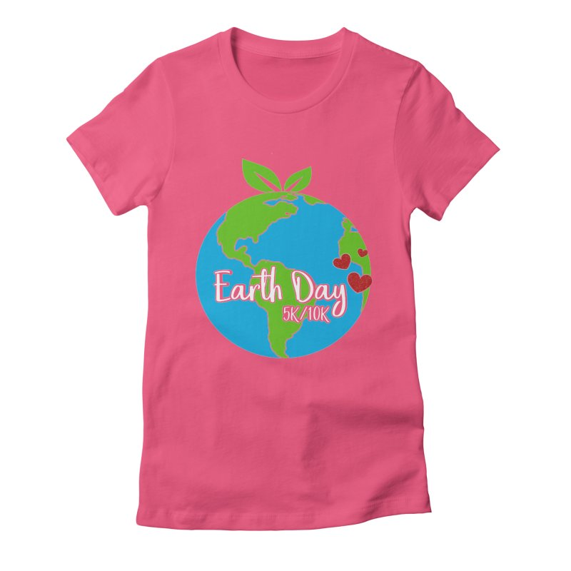 Earth Day 5K & 10K Women's Fitted T-Shirt by moonjoggers's Artist Shop