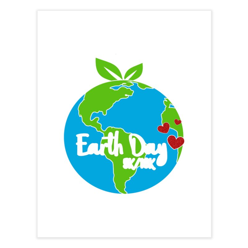 Earth Day 5K & 10K Home Fine Art Print by moonjoggers's Artist Shop