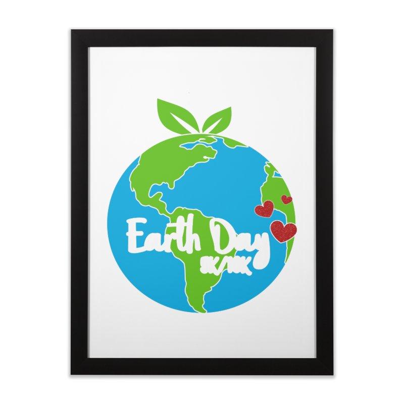 Earth Day 5K & 10K Home Framed Fine Art Print by moonjoggers's Artist Shop