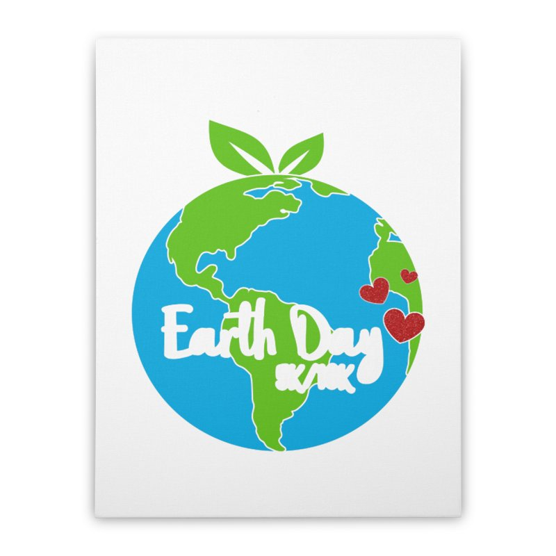 Earth Day 5K & 10K Home Stretched Canvas by moonjoggers's Artist Shop