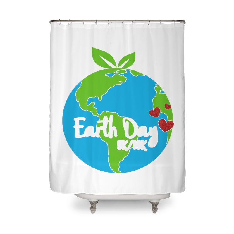 Earth Day 5K & 10K Home Shower Curtain by moonjoggers's Artist Shop