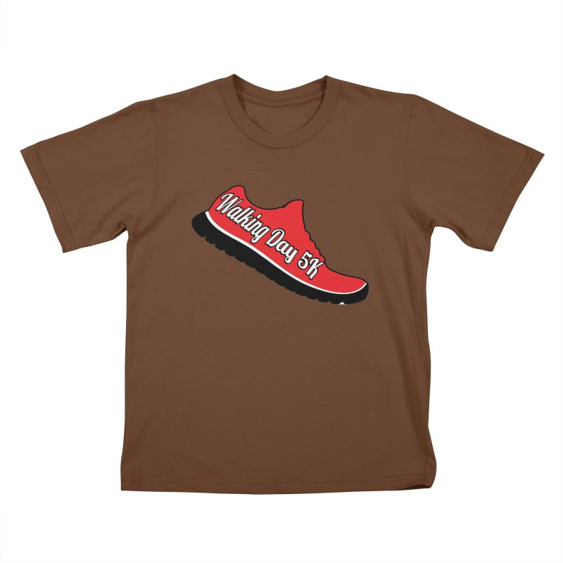 Walking Day 5K Kids T-Shirt by moonjoggers's Artist Shop