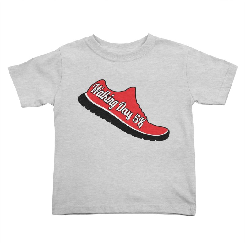 Walking Day 5K Kids Toddler T-Shirt by moonjoggers's Artist Shop
