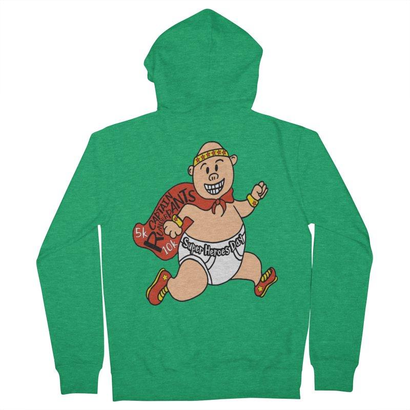 Super Heroes Day 5K & 10K – Captain RUNderpans! Men's Zip-Up Hoody by moonjoggers's Artist Shop