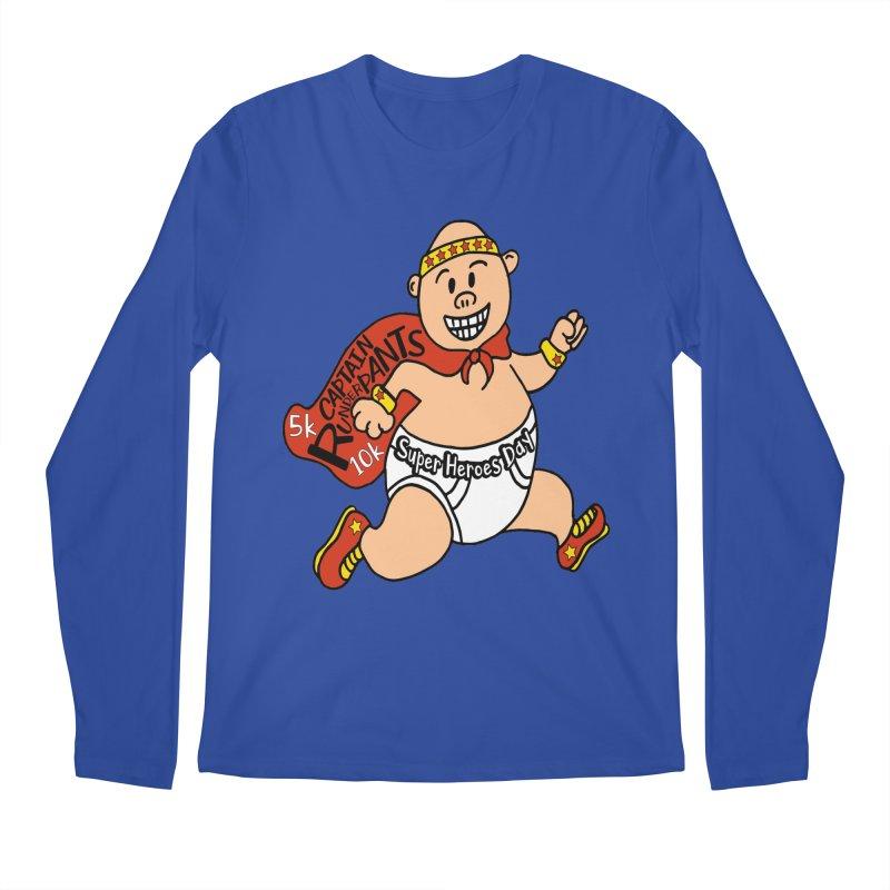 Super Heroes Day 5K & 10K – Captain RUNderpans! Men's Longsleeve T-Shirt by moonjoggers's Artist Shop