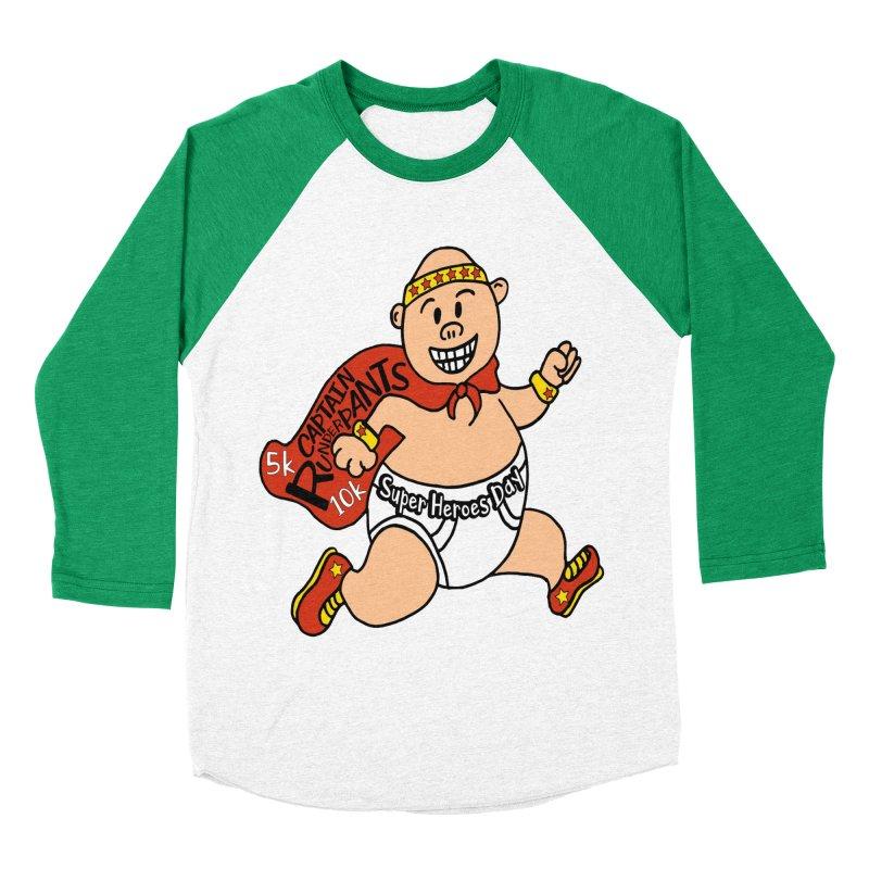 Super Heroes Day 5K & 10K – Captain RUNderpans! Women's Baseball Triblend T-Shirt by moonjoggers's Artist Shop
