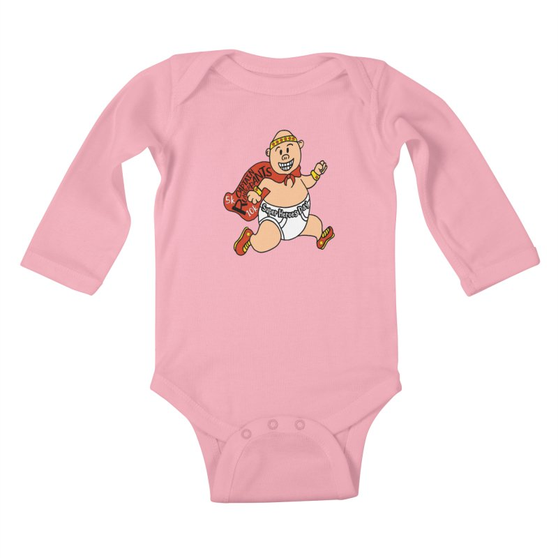 Super Heroes Day 5K & 10K – Captain RUNderpans! Kids Baby Longsleeve Bodysuit by moonjoggers's Artist Shop