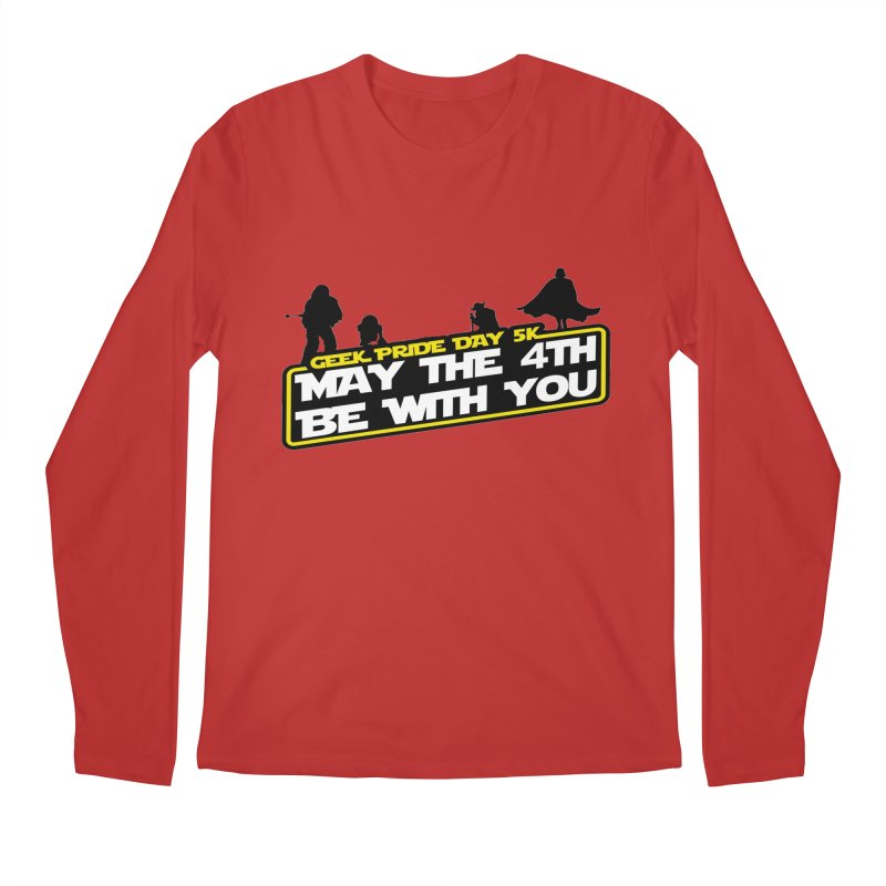 Geek Pride Day 5K: May the 4th Be With You Men's Longsleeve T-Shirt by moonjoggers's Artist Shop