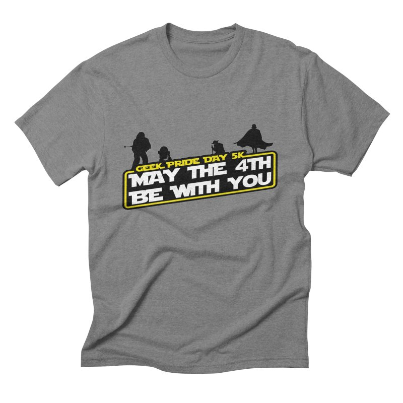 Geek Pride Day 5K: May the 4th Be With You Men's Triblend T-Shirt by moonjoggers's Artist Shop