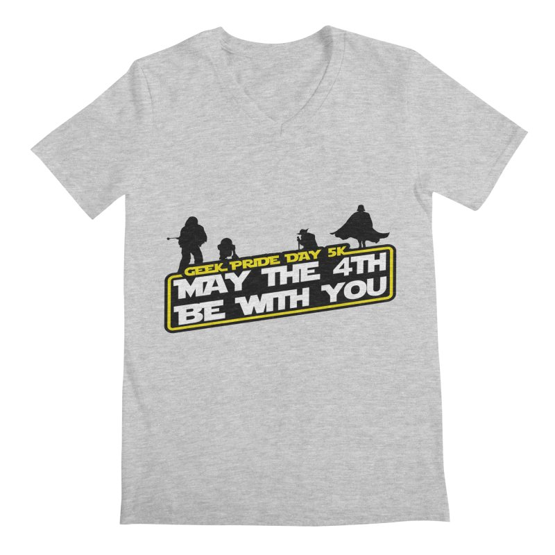 Geek Pride Day 5K: May the 4th Be With You Men's V-Neck by moonjoggers's Artist Shop