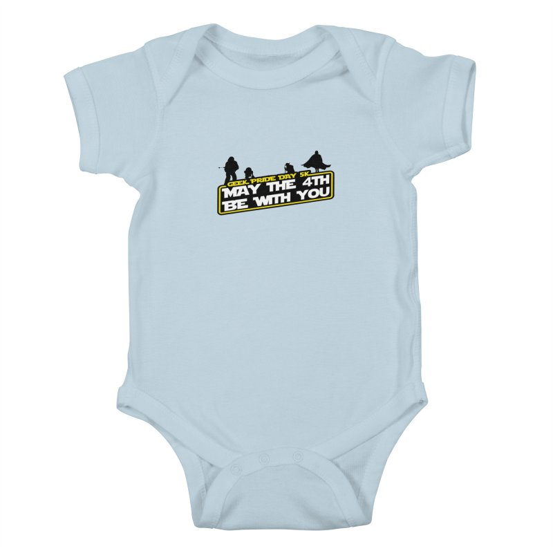 Geek Pride Day 5K: May the 4th Be With You Kids Baby Bodysuit by moonjoggers's Artist Shop