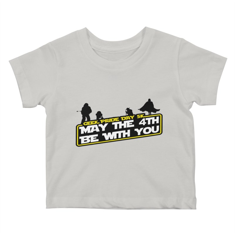Geek Pride Day 5K: May the 4th Be With You Kids Baby T-Shirt by moonjoggers's Artist Shop