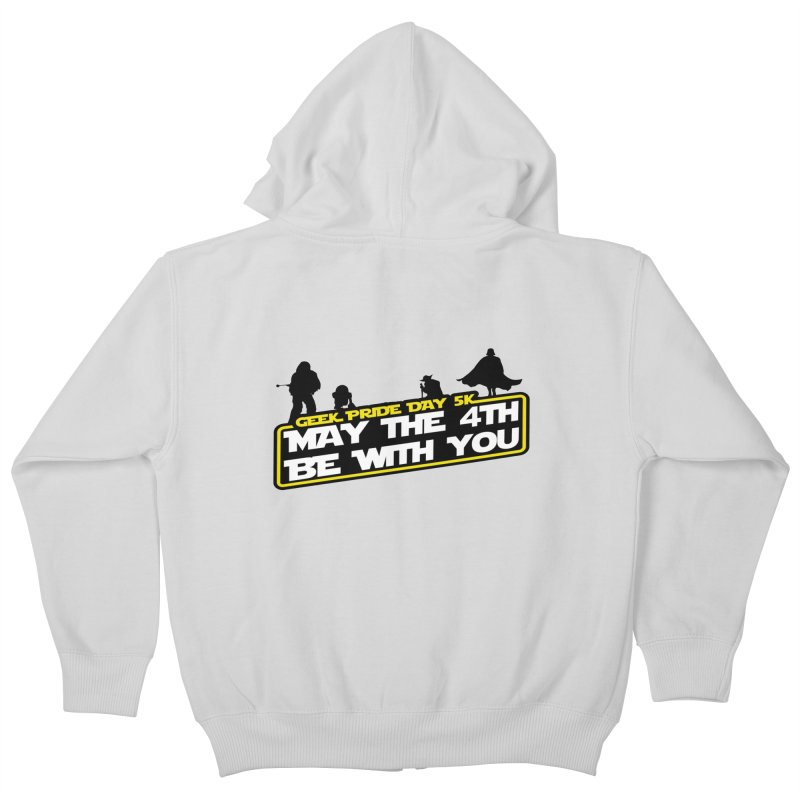 Geek Pride Day 5K: May the 4th Be With You Kids Zip-Up Hoody by moonjoggers's Artist Shop