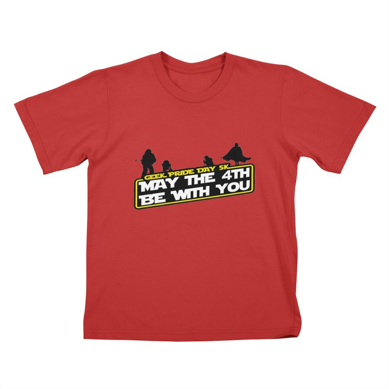 Geek Pride Day 5K: May the 4th Be With You Kids T-Shirt by moonjoggers's Artist Shop