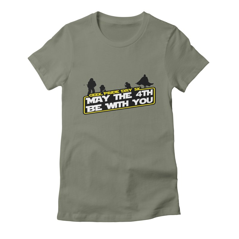 Geek Pride Day 5K: May the 4th Be With You Women's Fitted T-Shirt by moonjoggers's Artist Shop