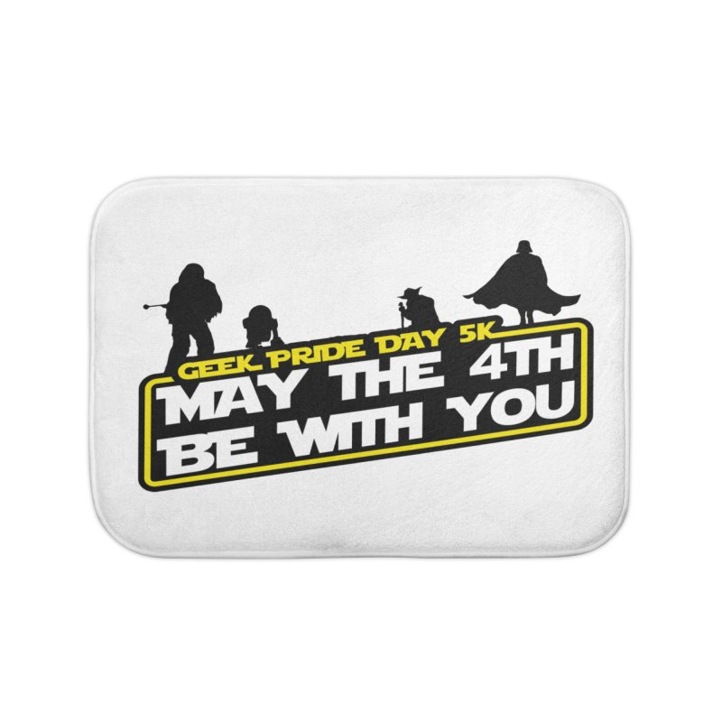 Geek Pride Day 5K: May the 4th Be With You Home Bath Mat by moonjoggers's Artist Shop