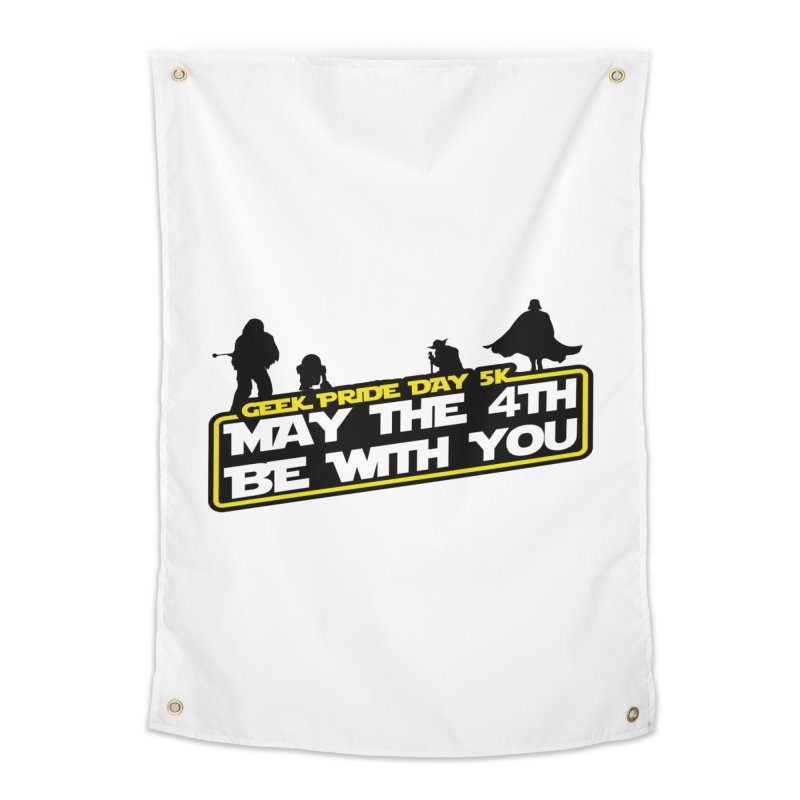Geek Pride Day 5K: May the 4th Be With You Home Tapestry by moonjoggers's Artist Shop