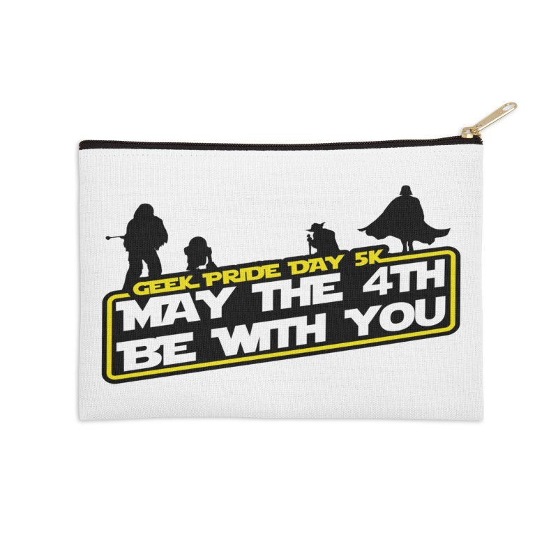 Geek Pride Day 5K: May the 4th Be With You Accessories Zip Pouch by moonjoggers's Artist Shop