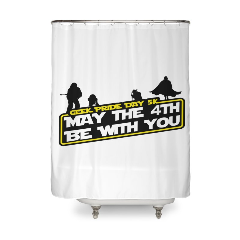 Geek Pride Day 5K: May the 4th Be With You Home Shower Curtain by moonjoggers's Artist Shop
