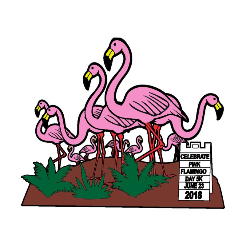 Flamingo Day 5K None  by moonjoggers's Artist Shop
