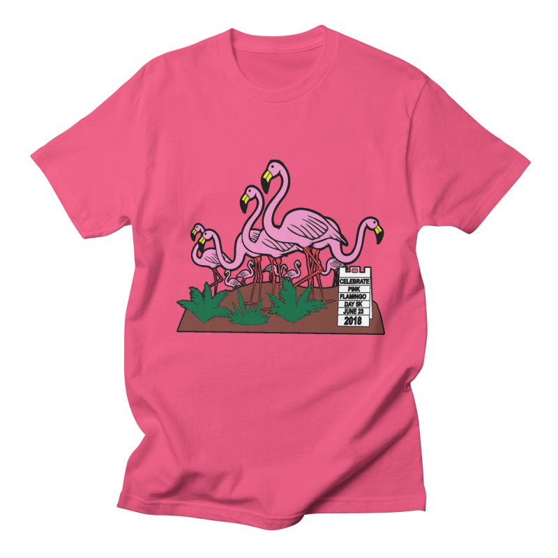 Flamingo Day 5K Men's T-Shirt by moonjoggers's Artist Shop