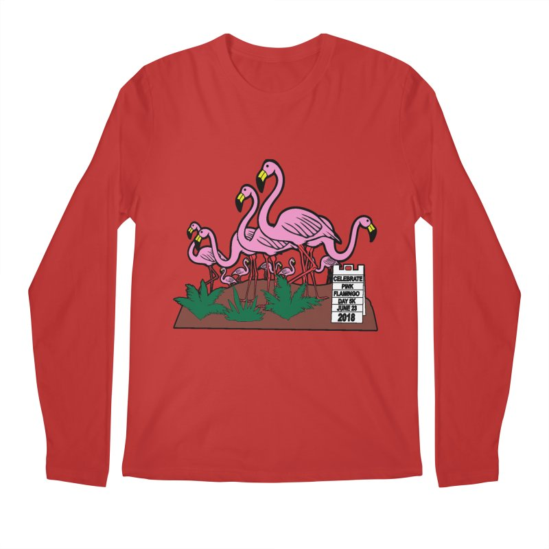 Flamingo Day 5K Men's Longsleeve T-Shirt by moonjoggers's Artist Shop