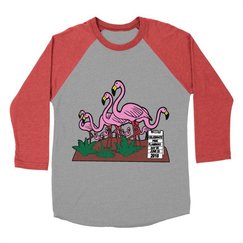 Flamingo Day 5K Women's Baseball Triblend T-Shirt by moonjoggers's Artist Shop