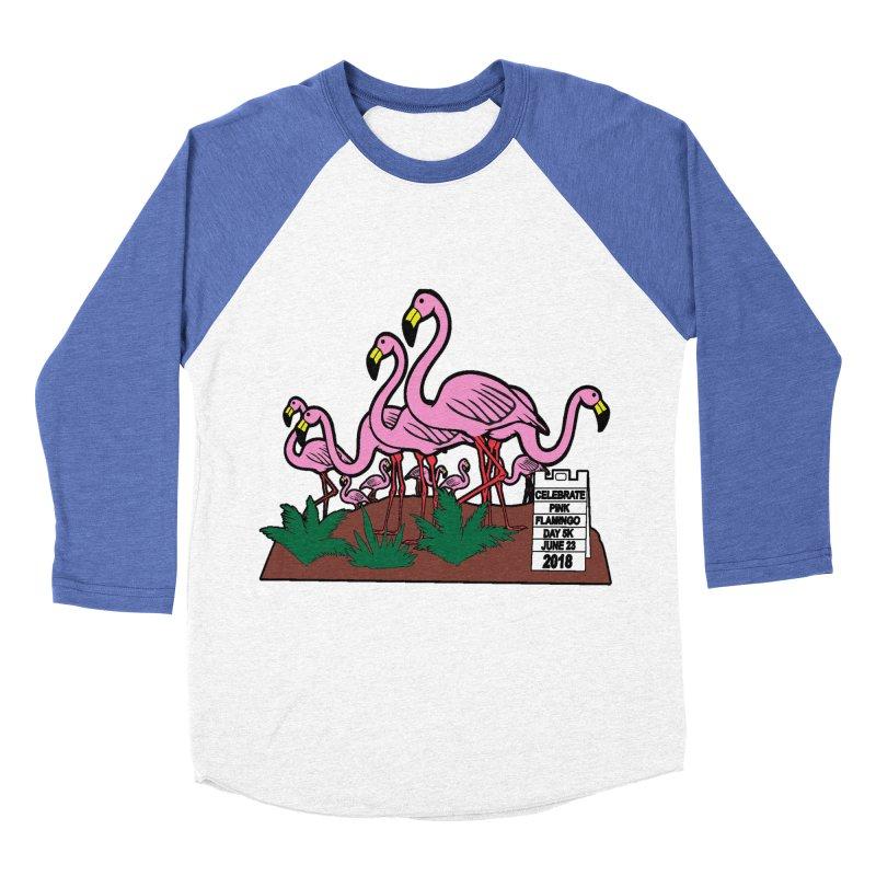 Flamingo Day 5K Men's Baseball Triblend T-Shirt by moonjoggers's Artist Shop