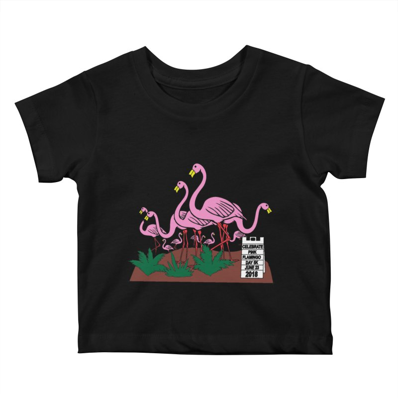 Flamingo Day 5K Kids Baby T-Shirt by moonjoggers's Artist Shop