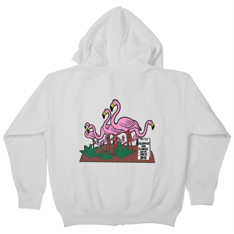 Flamingo Day 5K Kids Zip-Up Hoody by moonjoggers's Artist Shop