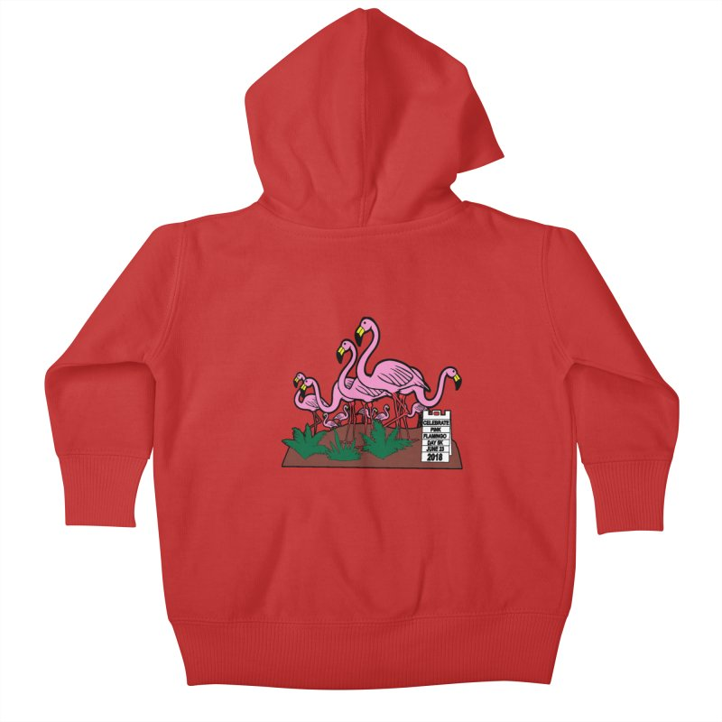 Flamingo Day 5K Kids Baby Zip-Up Hoody by moonjoggers's Artist Shop