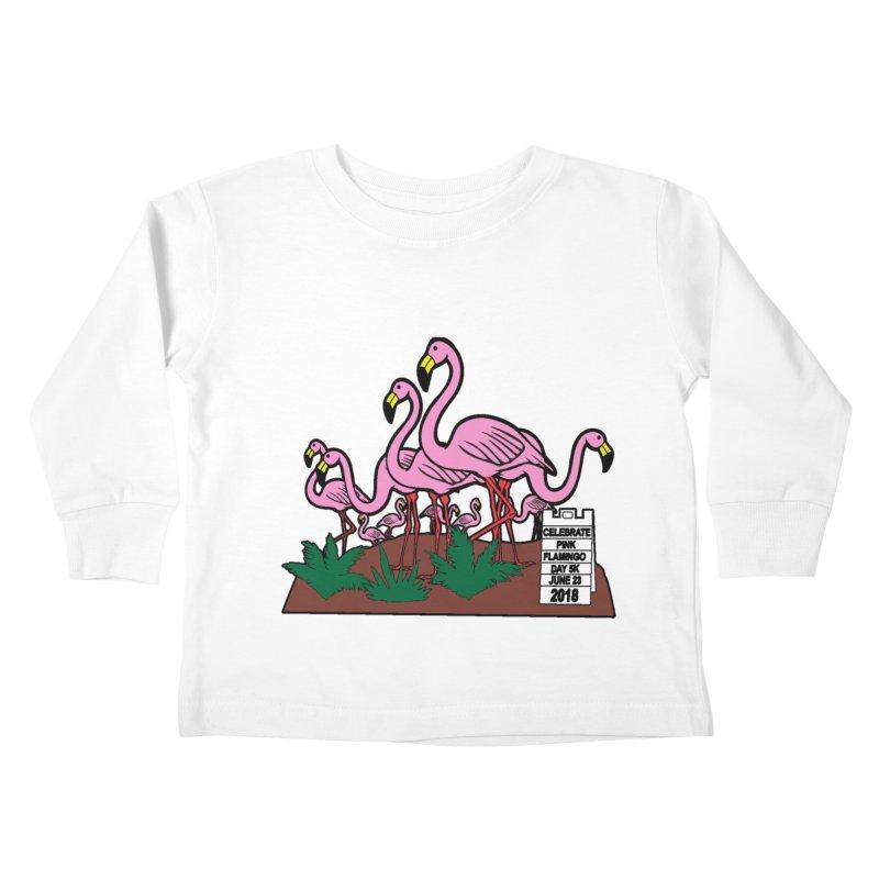 Flamingo Day 5K Kids Toddler Longsleeve T-Shirt by moonjoggers's Artist Shop