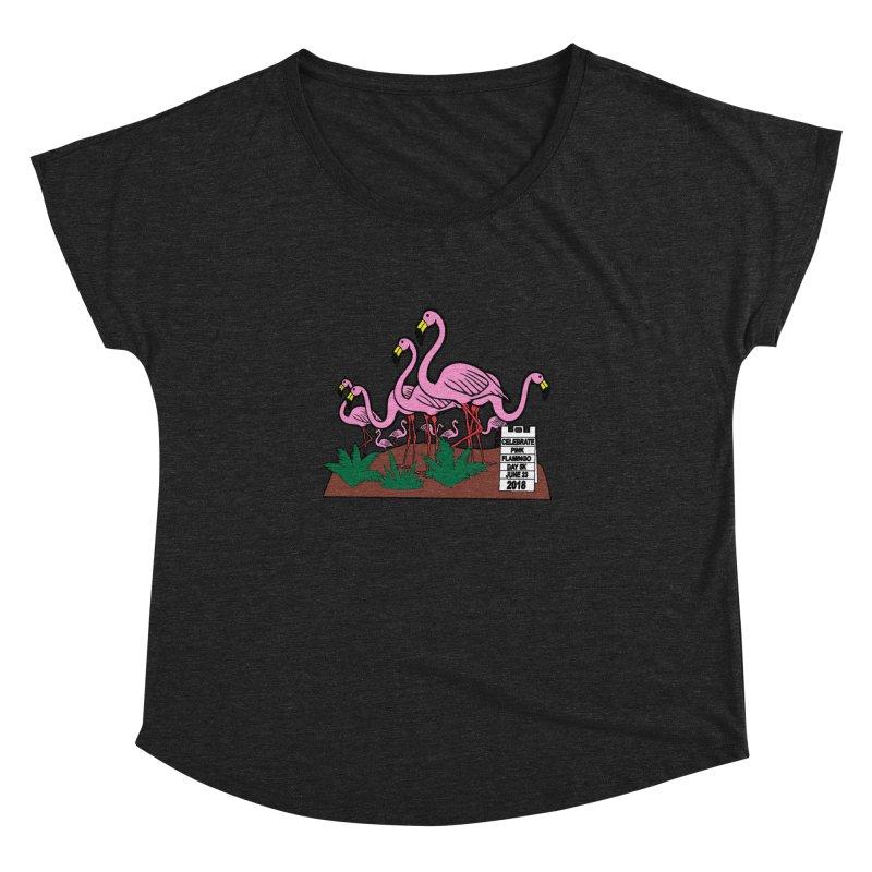 Flamingo Day 5K Women's Dolman by moonjoggers's Artist Shop