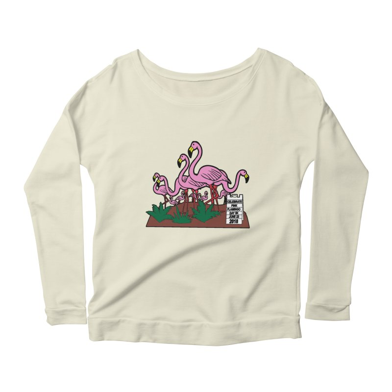 Flamingo Day 5K Women's Longsleeve Scoopneck  by moonjoggers's Artist Shop