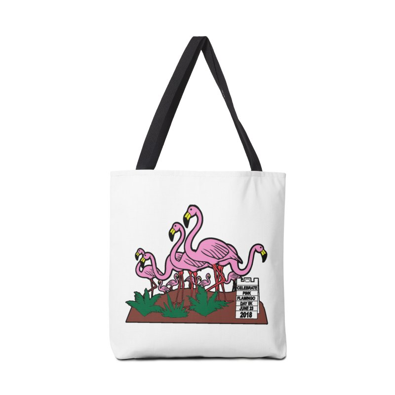 Flamingo Day 5K Accessories Bag by moonjoggers's Artist Shop