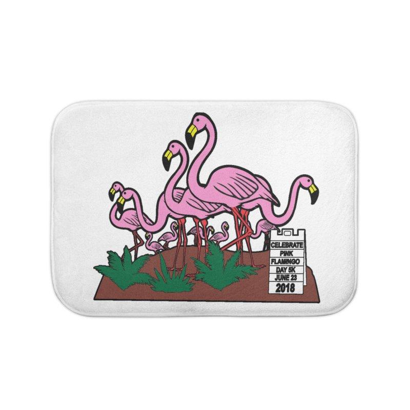 Flamingo Day 5K Home Bath Mat by moonjoggers's Artist Shop