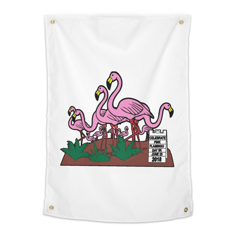 Flamingo Day 5K Home Tapestry by moonjoggers's Artist Shop