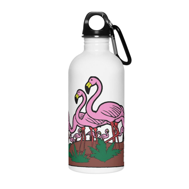 Flamingo Day 5K Accessories Water Bottle by moonjoggers's Artist Shop