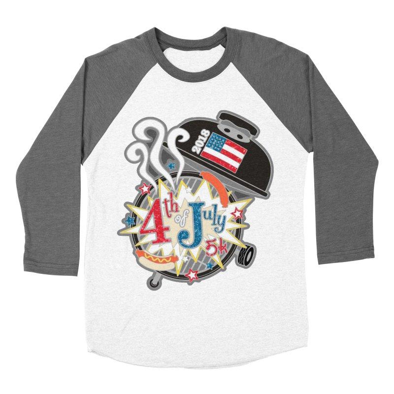 4th of July 5K Men's Baseball Triblend T-Shirt by moonjoggers's Artist Shop