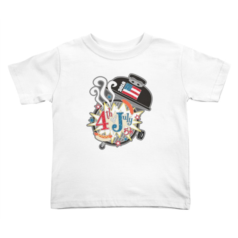 4th of July 5K Kids Toddler T-Shirt by moonjoggers's Artist Shop