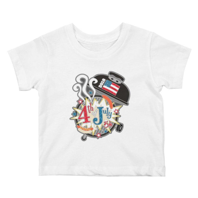 4th of July 5K Kids Baby T-Shirt by moonjoggers's Artist Shop
