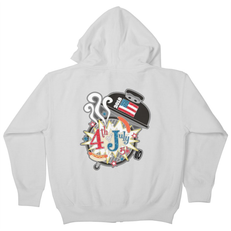 4th of July 5K Kids Zip-Up Hoody by moonjoggers's Artist Shop