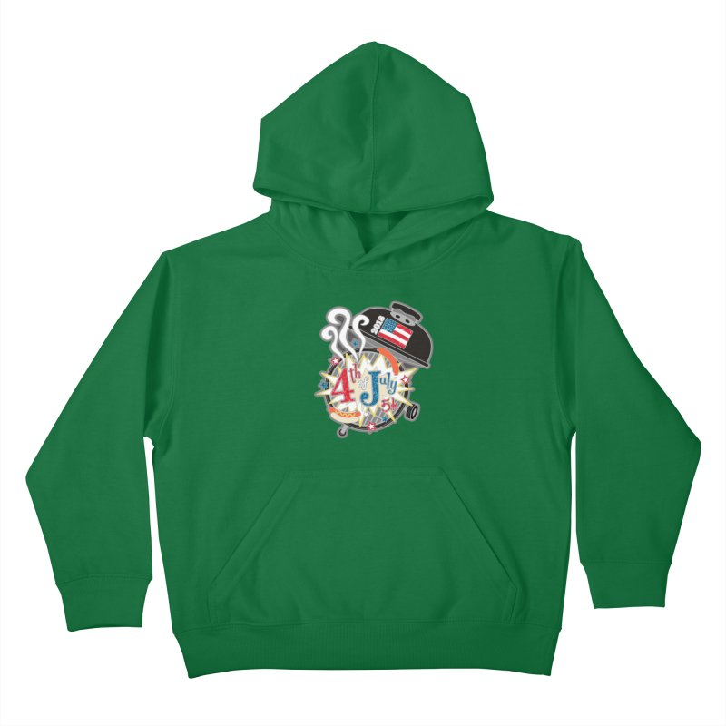 4th of July 5K Kids Pullover Hoody by moonjoggers's Artist Shop